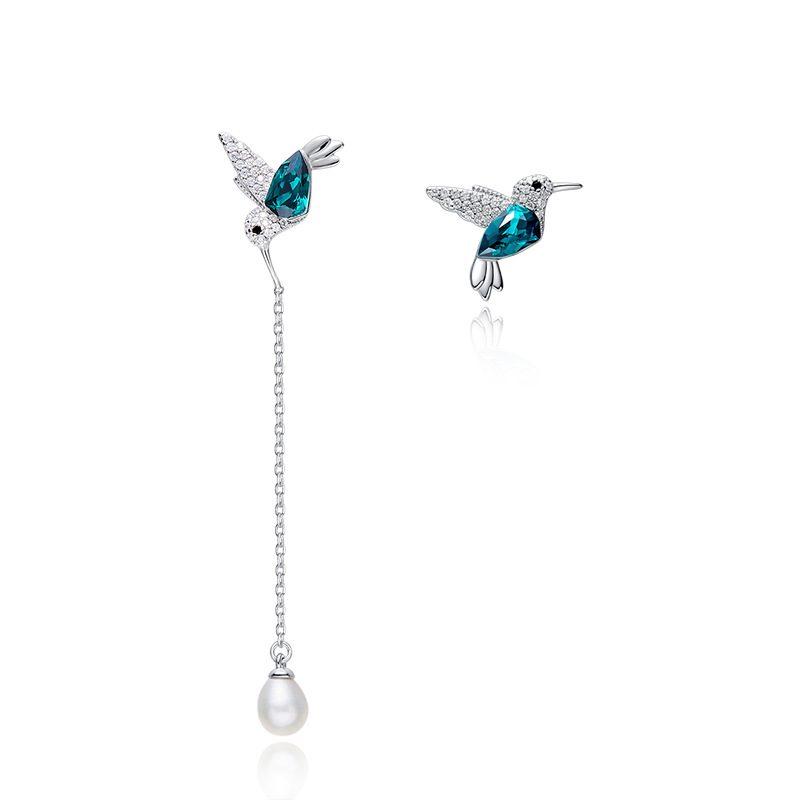 Bông tai bạc mạ bạch kim hình chim nhạn LILI_836647-01