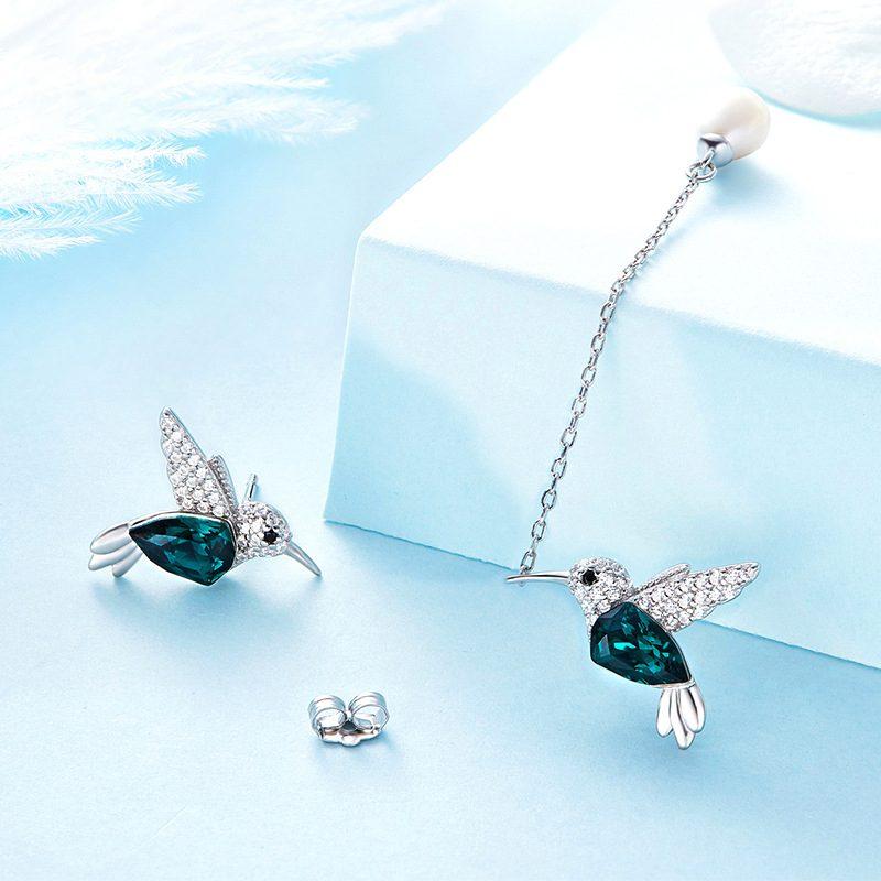 Bông tai bạc mạ bạch kim hình chim nhạn LILI_836647-03
