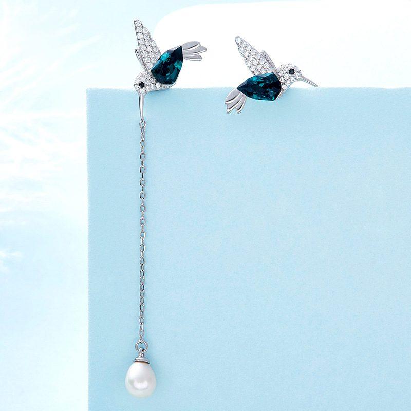 Bông tai bạc mạ bạch kim hình chim nhạn LILI_836647-04