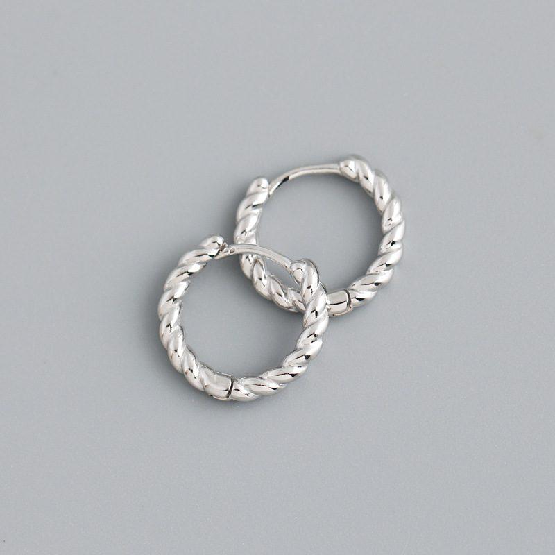 Bông tai bạc mạ vàng bạch kim dạng xoắn ốc LILI_591575-05