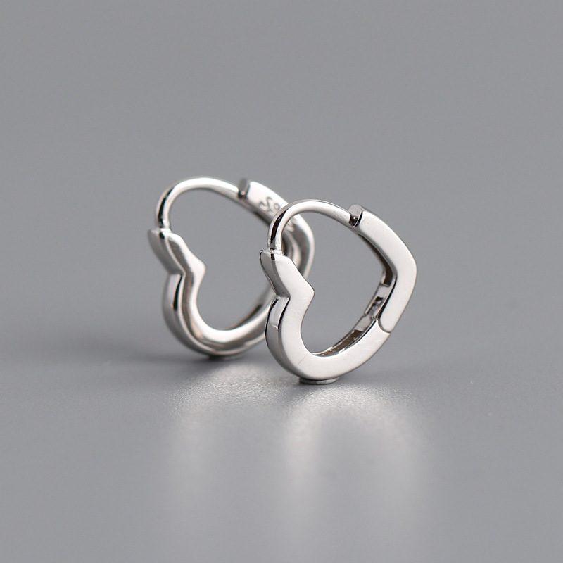 Bông tai bạc mạ vàng bạch kim hình trái tim LILI_649279-06
