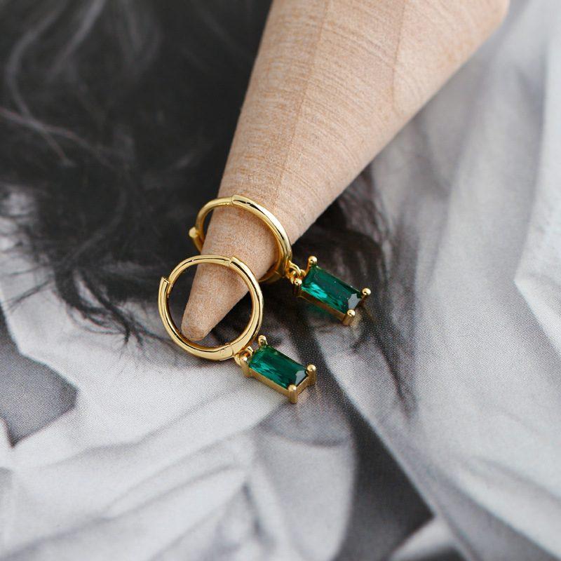 Bông tai bạc mạ vàng đính đá Zircon LILI_254916-09