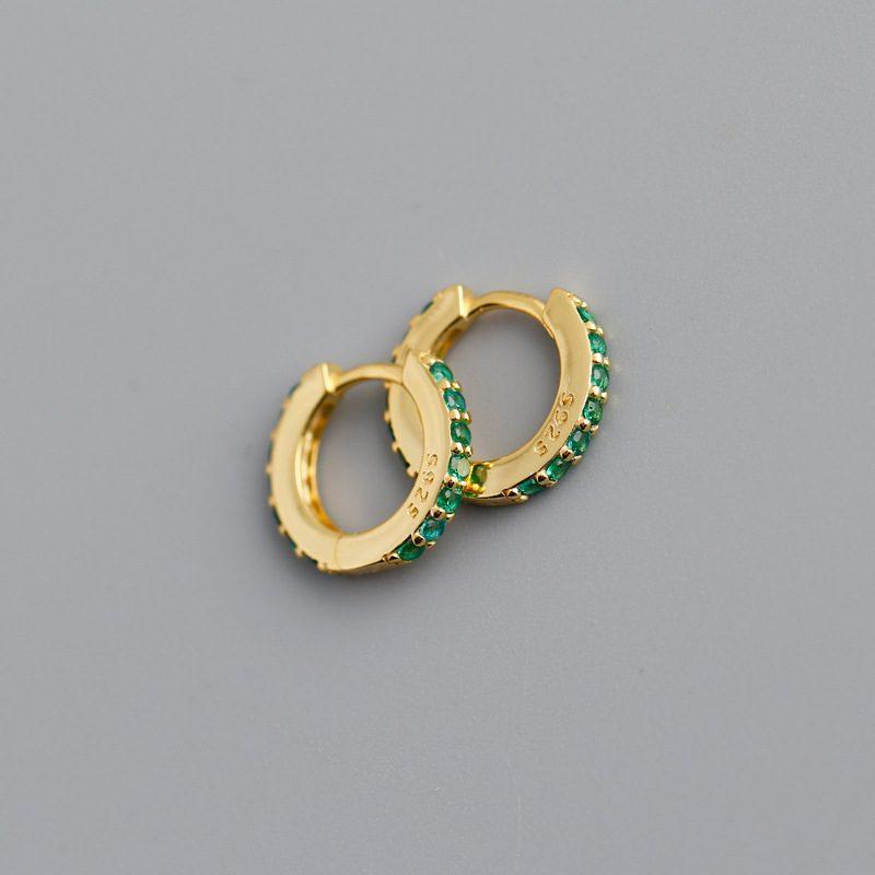 Bông tai bạc mạ vàng đính đá Zircon LILI_338864-03