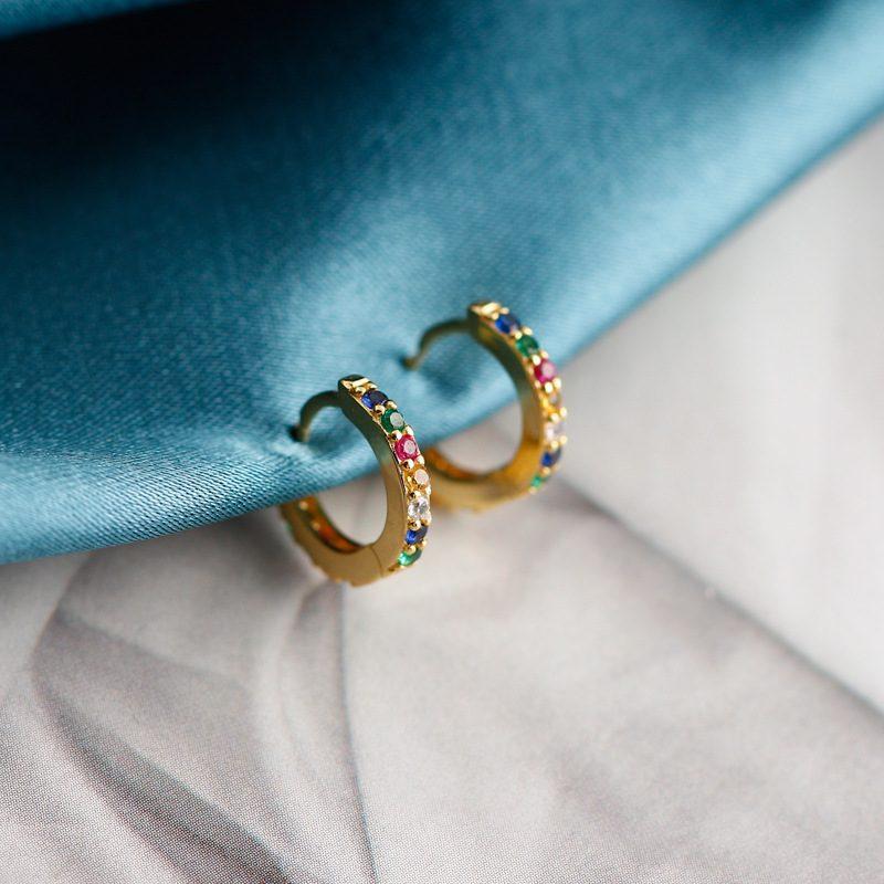 Bông tai bạc mạ vàng đính đá Zircon LILI_338864-08
