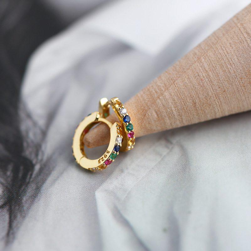 Bông tai bạc mạ vàng đính đá Zircon LILI_338864-09