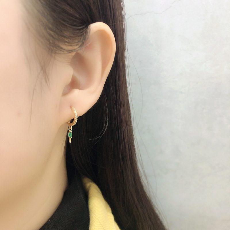 Bông tai bạc mạ vàng đính đá Zircon LILI_613464-01