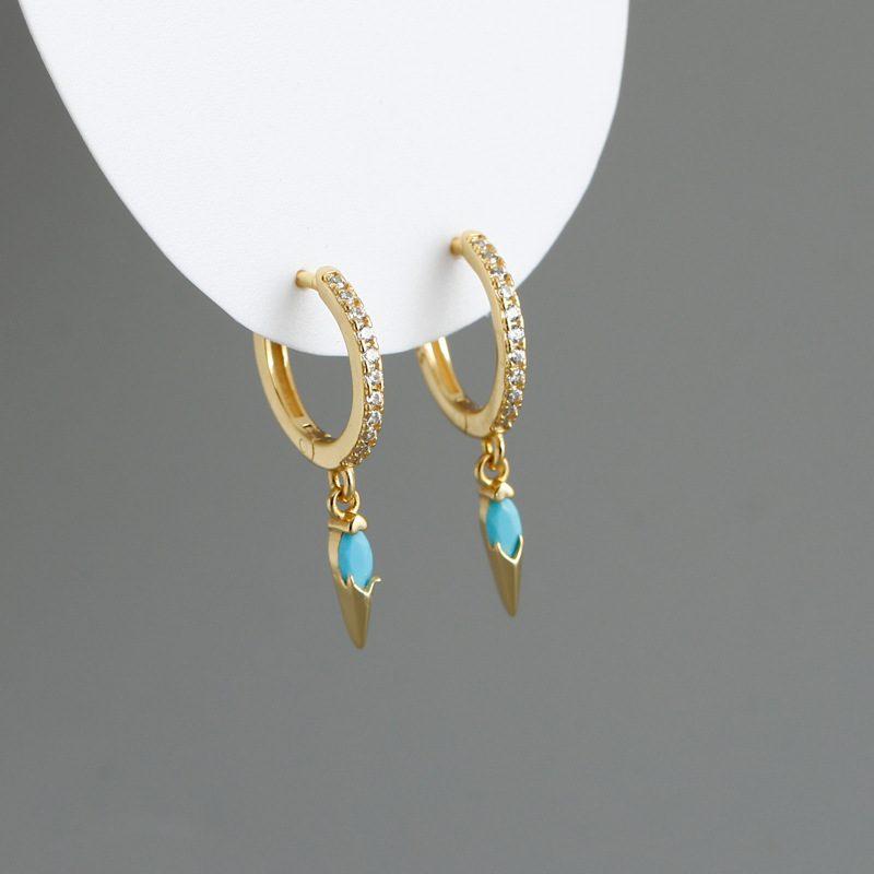 Bông tai bạc mạ vàng đính đá Zircon LILI_613464-02