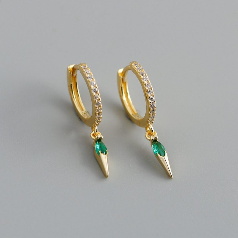 Bông tai bạc mạ vàng đính đá Zircon LILI_613464-04
