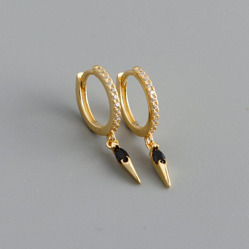 Bông tai bạc mạ vàng đính đá Zircon LILI_613464-05