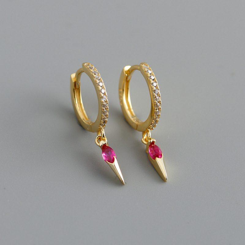 Bông tai bạc mạ vàng đính đá Zircon LILI_613464-06