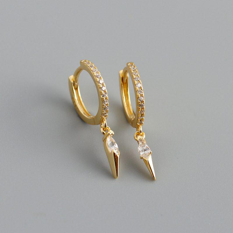 Bông tai bạc mạ vàng đính đá Zircon LILI_613464-10
