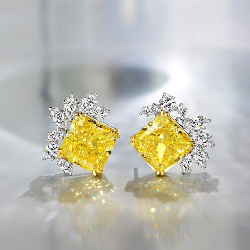 Bông tai bạc mạ vàng đính đá Zircon The One LILI_716849-01