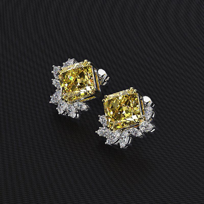 Bông tai bạc mạ vàng đính đá Zircon The One LILI_716849-02