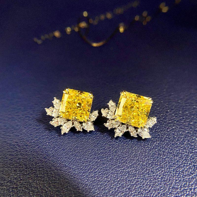 Bông tai bạc mạ vàng đính đá Zircon The One LILI_716849-03