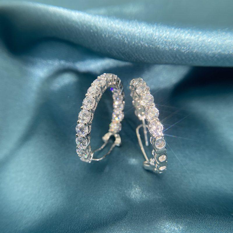 Bông tai bạc mạ vàng đính đá Zircon The Queen LILI_144518-06