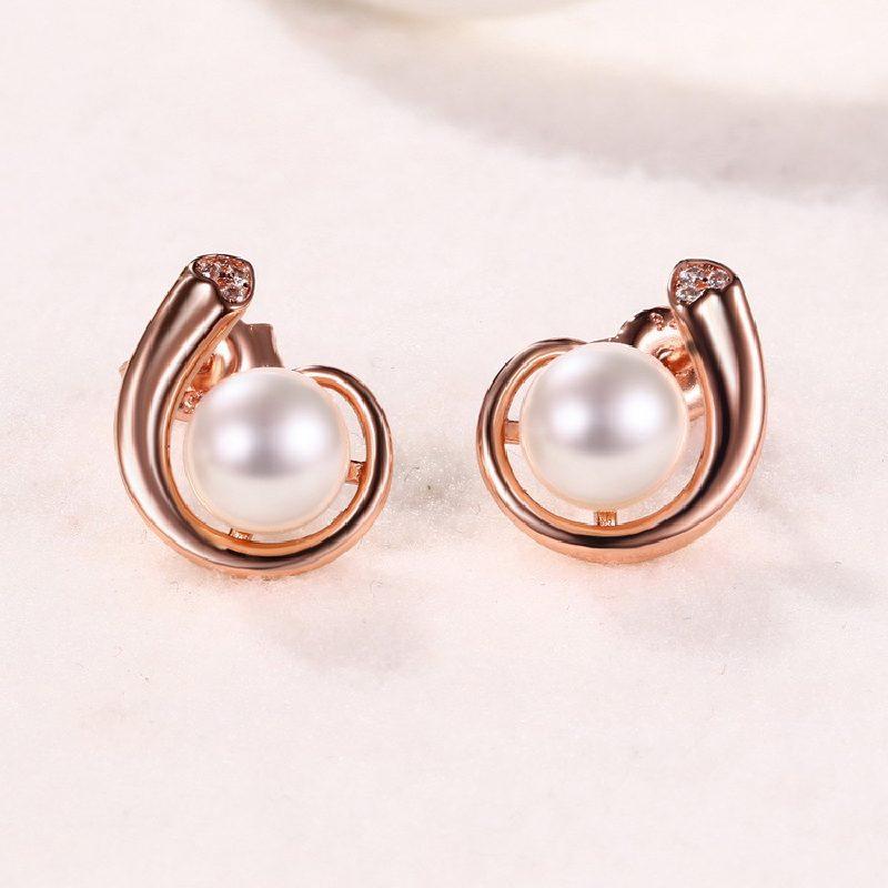 Bông tai bạc mạ vàng đính ngọc trai LILI_388496-01