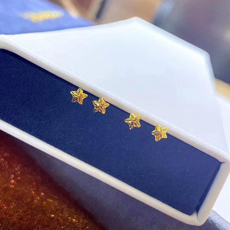 Bông tai vàng 18k hình ngôi sao 5 cánh LILI_711334-01
