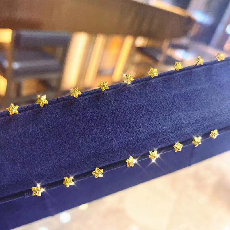 Bông tai vàng 18k hình ngôi sao 5 cánh LILI_711334-02