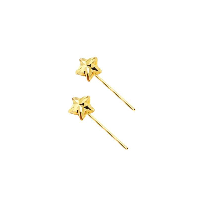 Bông tai vàng 18k hình ngôi sao 5 cánh LILI_711334-05