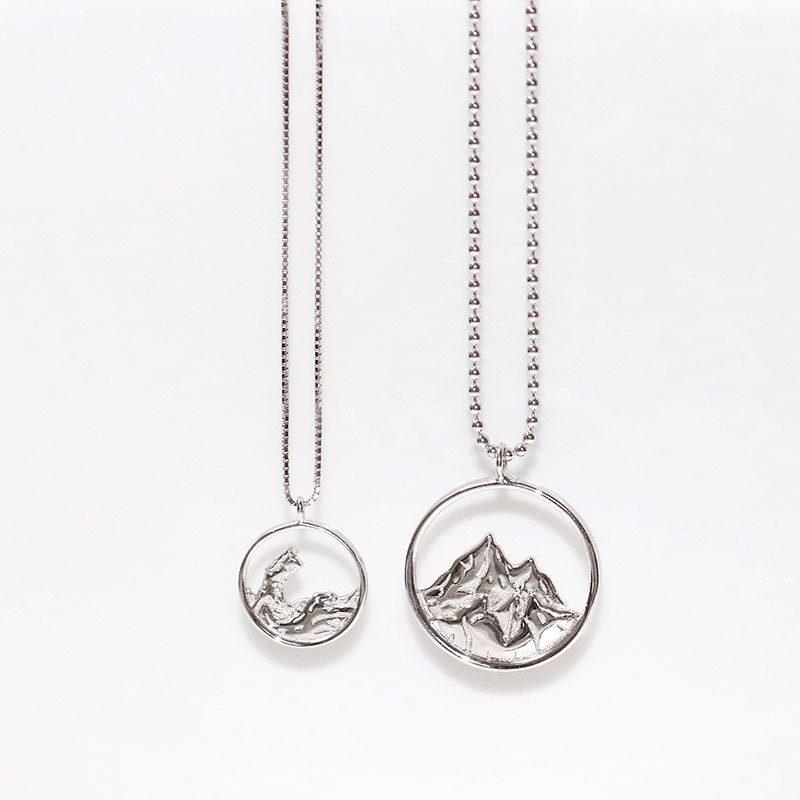 Dây chuyền bạc cặp đôi núi biển LILI_372956-3