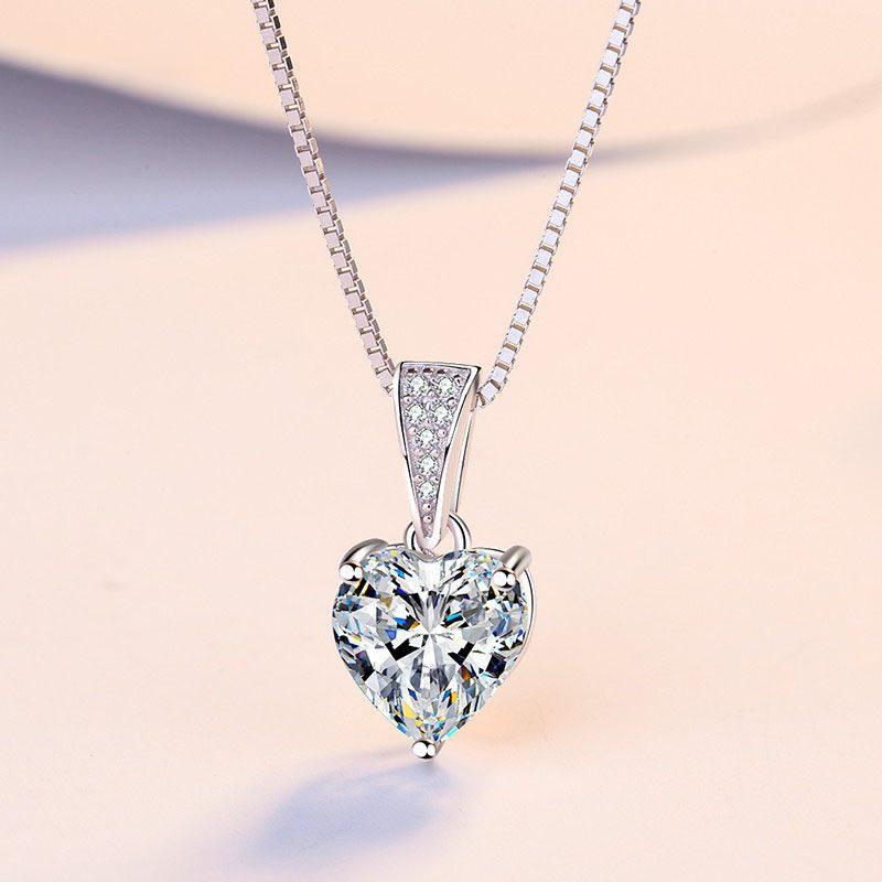 Dây chuyền bạc đính đá Zircon trái tim LILI_939517-1