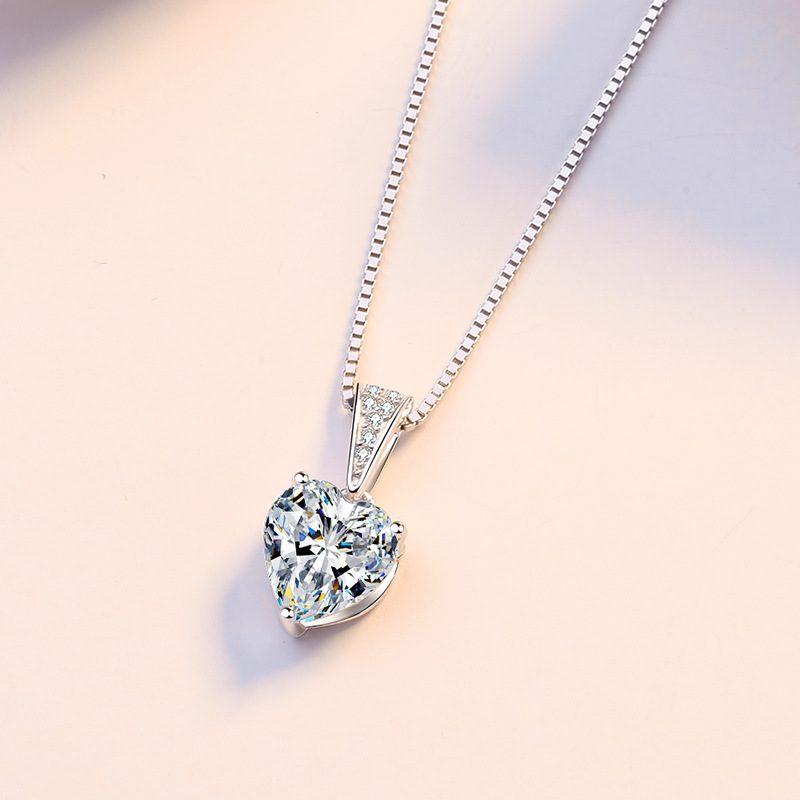 Dây chuyền bạc đính đá Zircon trái tim LILI_939517-2