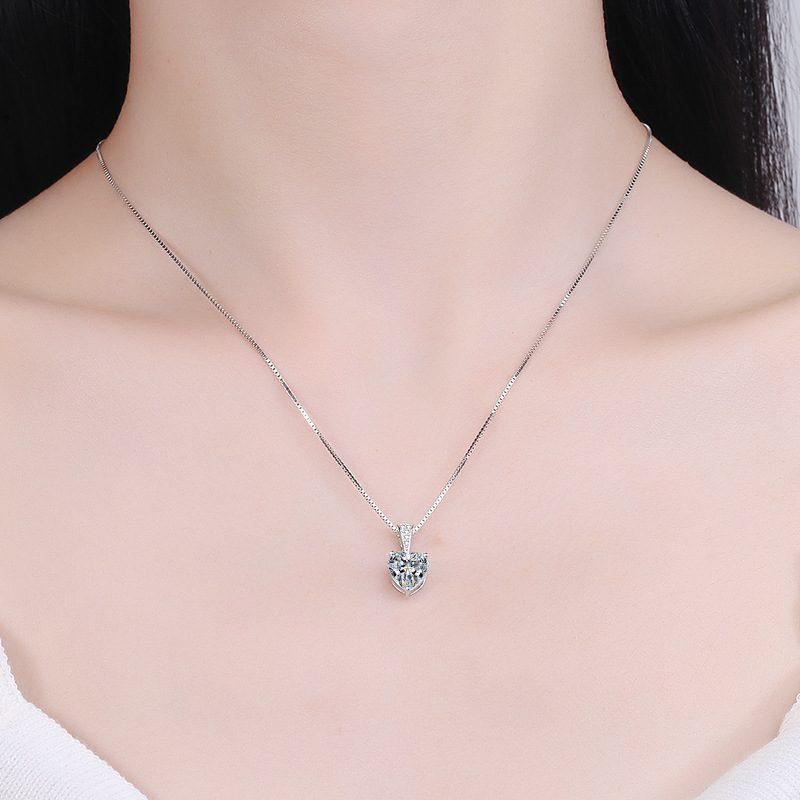 Dây chuyền bạc đính đá Zircon trái tim LILI_939517-3