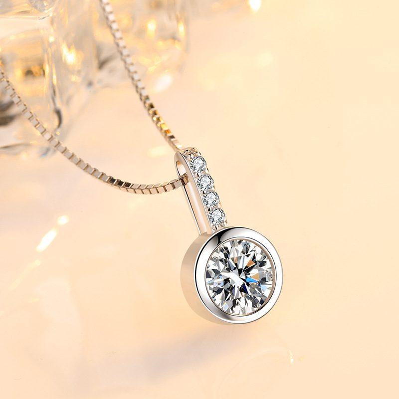 Dây chuyền bạc đính đá Zircon tròn LILI_688998-1