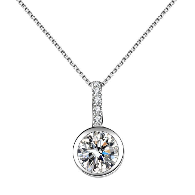 Dây chuyền bạc đính đá Zircon tròn LILI_688998-2