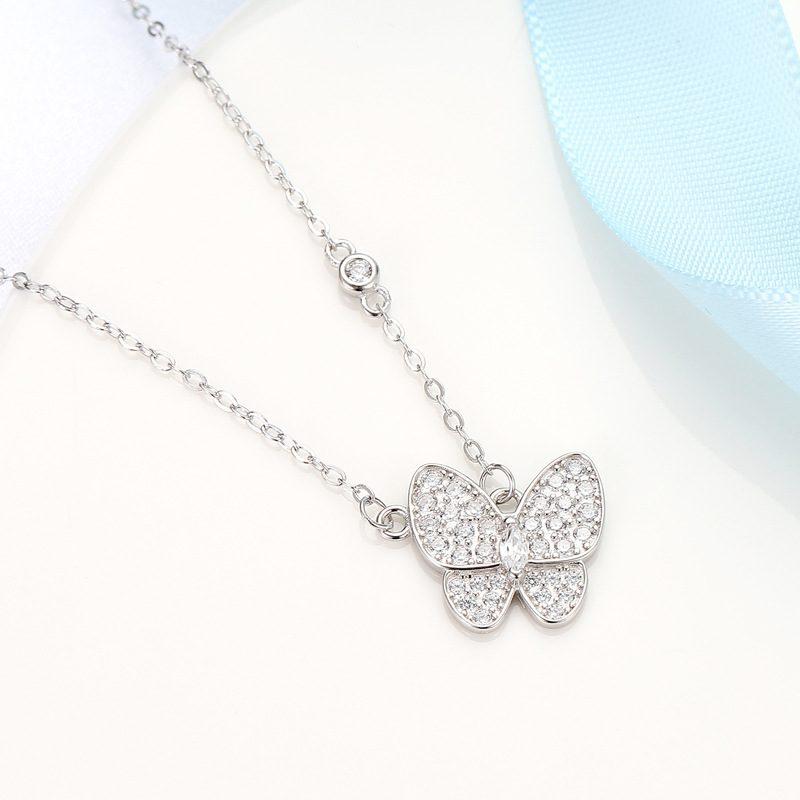 Dây chuyền bạc mạ vàng cánh bướm LILI_938267-5