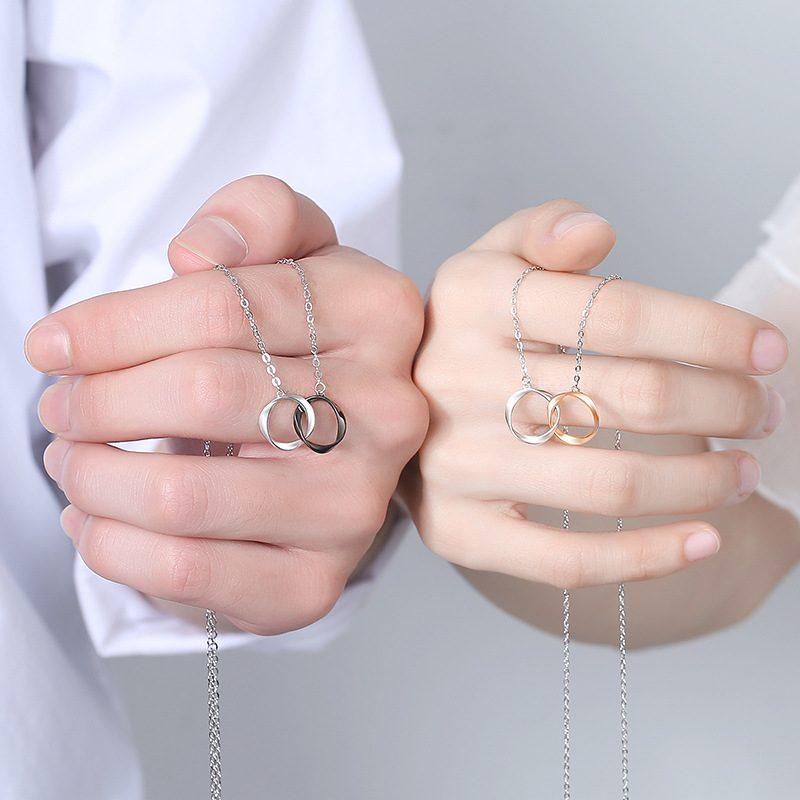 Dây chuyền bạc mạ vàng cặp đôi LILI_857993-3