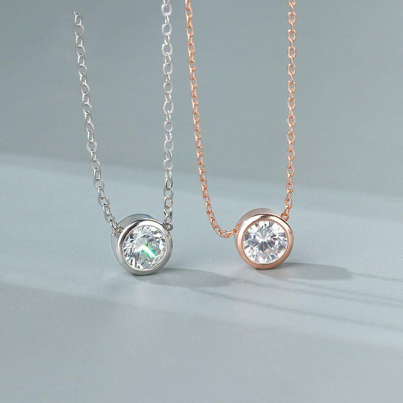 Dây chuyền bạc mạ vàng đính kim cương LILI_145318-2