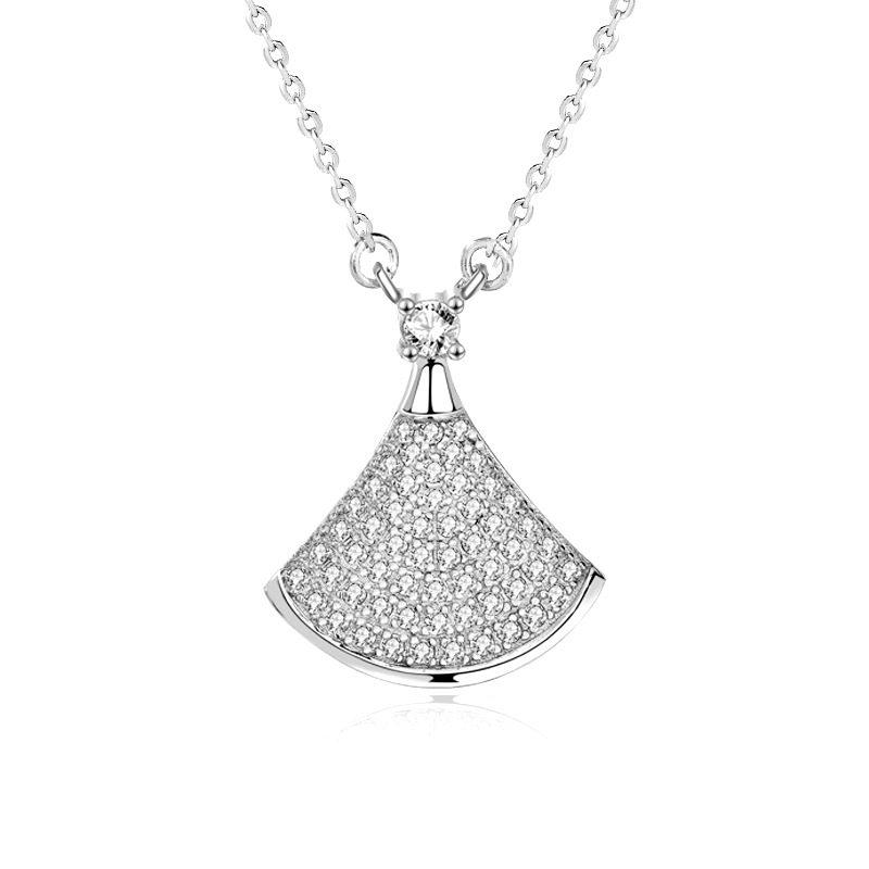 Dây chuyền bạc mạ vàng đính kim cương LILI_882576-2