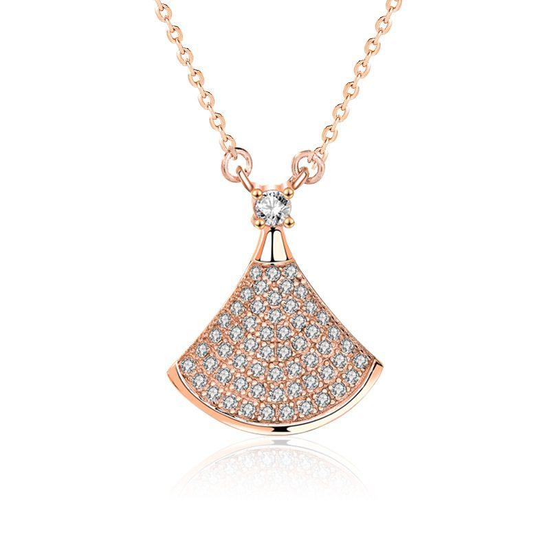 Dây chuyền bạc mạ vàng đính kim cương LILI_882576-4