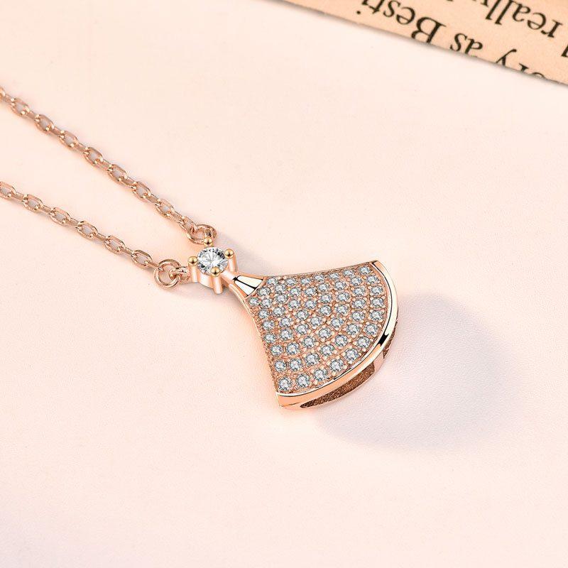 Dây chuyền bạc mạ vàng đính kim cương LILI_882576-5