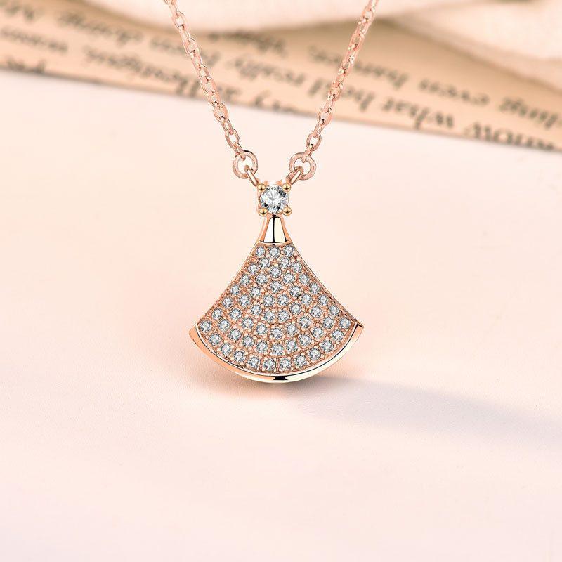 Dây chuyền bạc mạ vàng đính kim cương LILI_882576-6