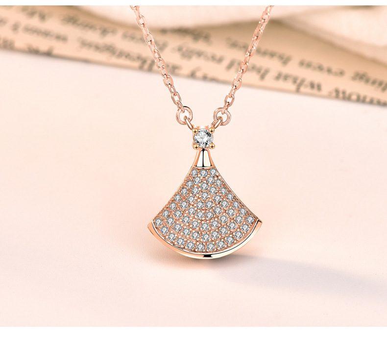 Dây chuyền bạc mạ vàng đính kim cương LILI_882576-7