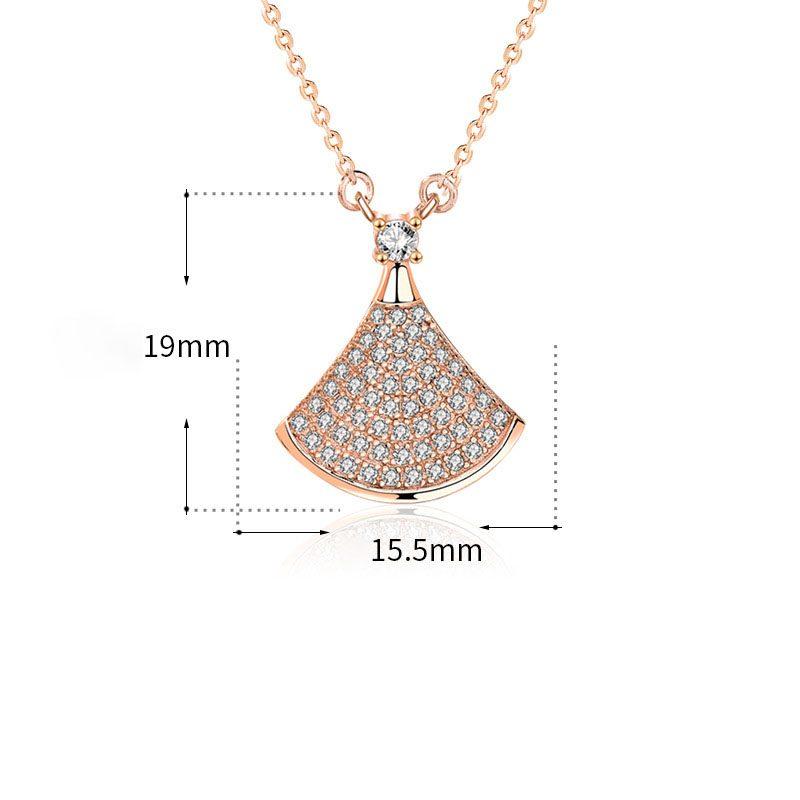 Dây chuyền bạc mạ vàng đính kim cương LILI_882576-9