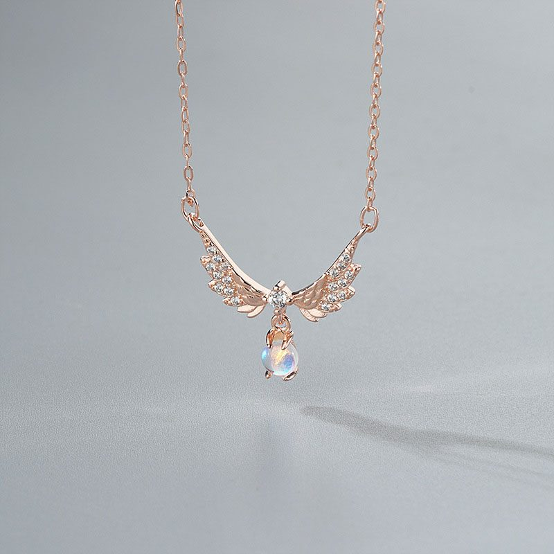 Dây chuyền bạc mạ vàng đôi cánh thiên thần LILI_952242-1