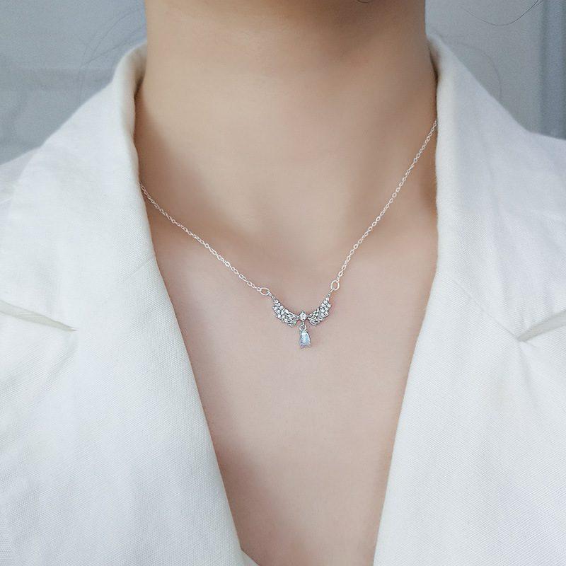 Dây chuyền bạc mạ vàng đôi cánh thiên thần LILI_952242-2