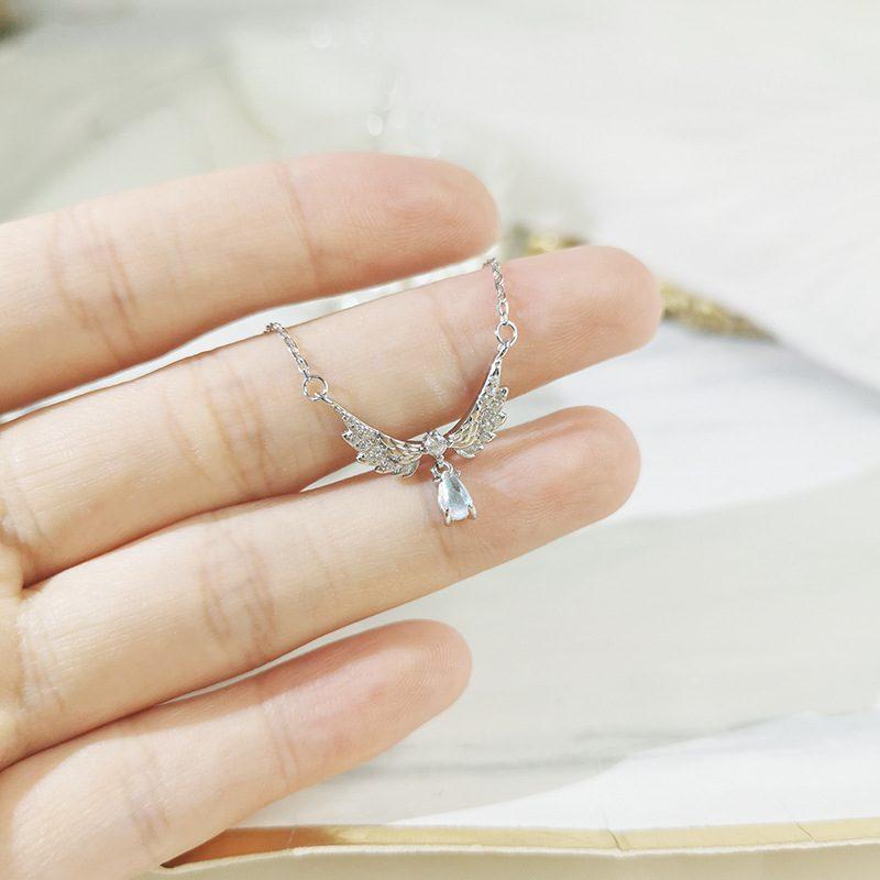Dây chuyền bạc mạ vàng đôi cánh thiên thần LILI_952242-3