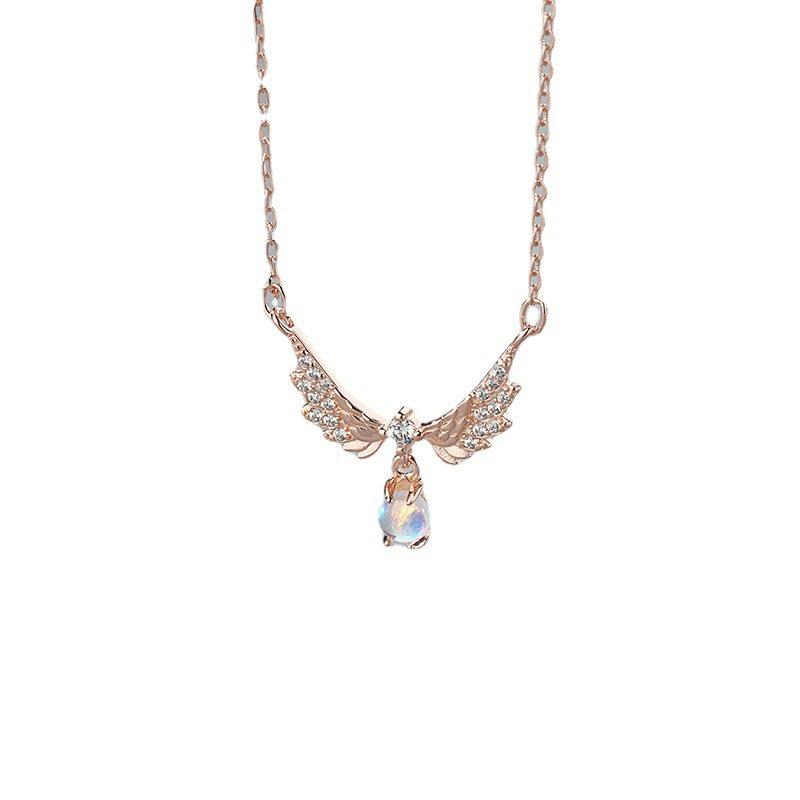 Dây chuyền bạc mạ vàng đôi cánh thiên thần LILI_952242-4