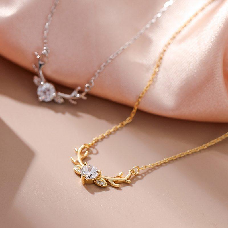 Dây chuyền bạc mạ vàng gạc nai LILI_337597-2