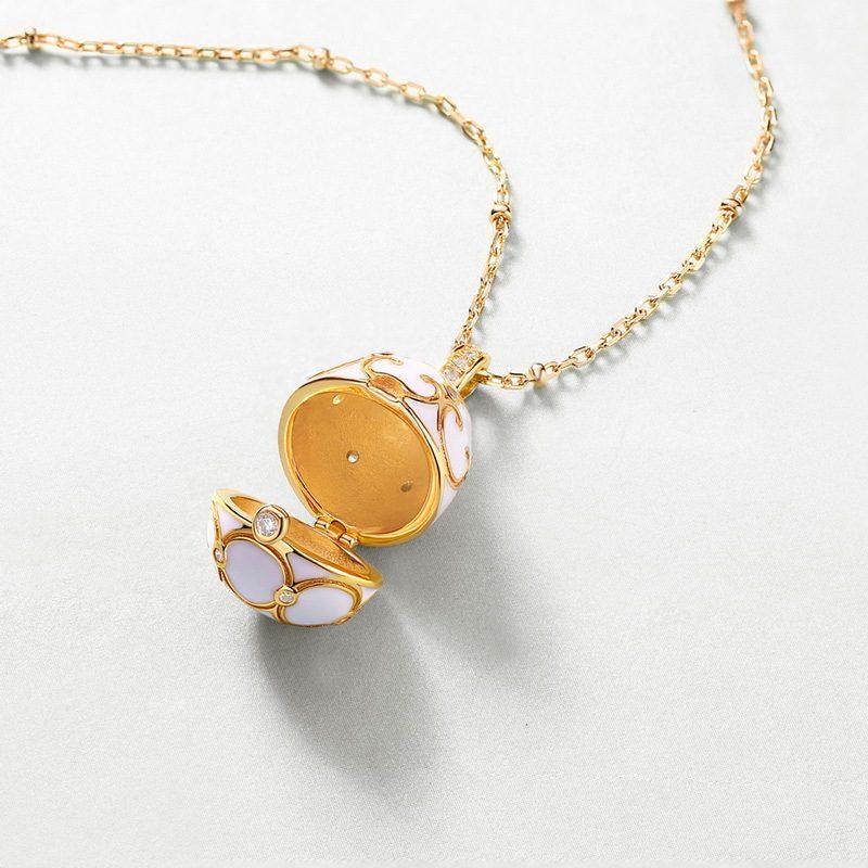 Dây chuyền bạc mạ vàng giọt nước đóng mở LILI_125216-3