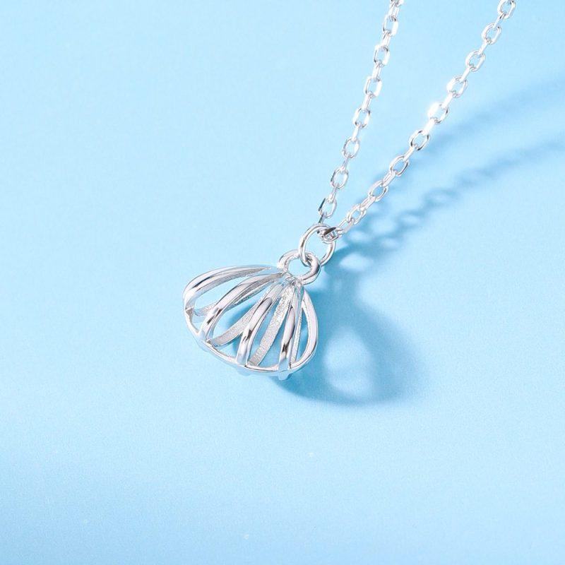 Dây chuyền bạc mạ vàng hến nhỏ LILI_683981-2