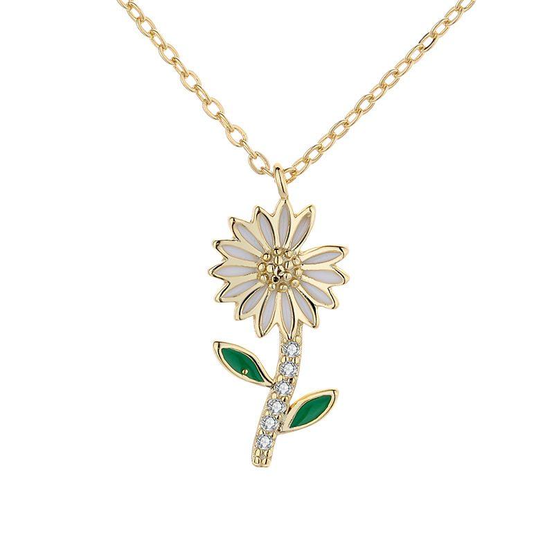 Dây chuyền bạc mạ vàng hoa cúc nhỏ LILI_719985-5