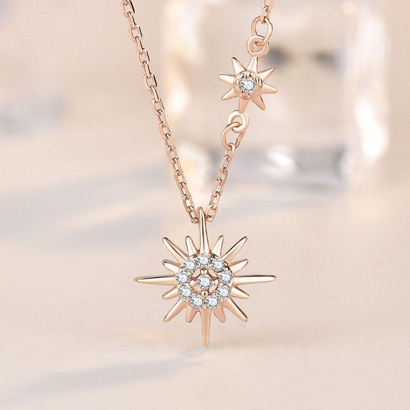 Dây chuy�n bạc mạ vàng mặt tr�i LILI_443965-1