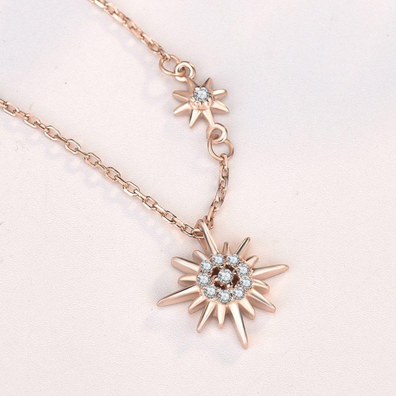 Dây chuyền bạc mạ vàng mặt trời LILI_443965-3