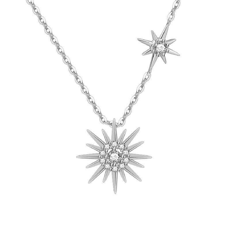 Dây chuyền bạc mạ vàng mặt trời LILI_443965-5