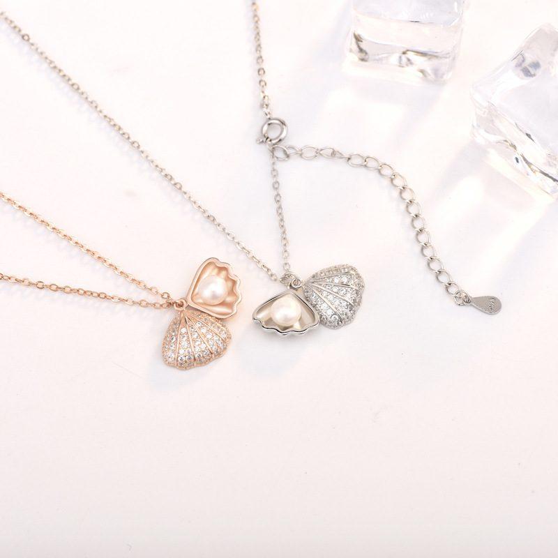 Dây chuyền bạc mạ vàng ngọc trai LILI_596512-3